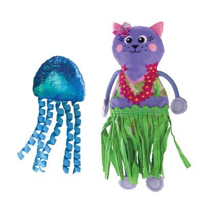 KONG for Cats Tropics Hula 2-Pack