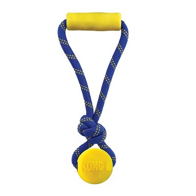 KONG Jaxx Brights Tug with Ball Assorted Medium