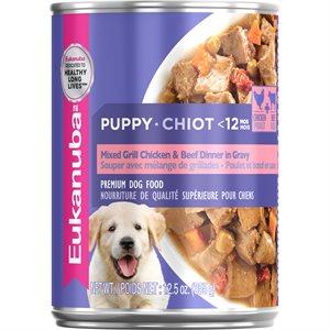 EUKANUBA Puppy Mixed Grill Chicken & Beef Dinner in Gravy 12 / 12.5oz