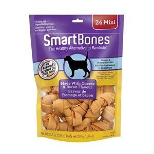 Spectrum SmartBones Bacon & Cheese Mini 24 Pack