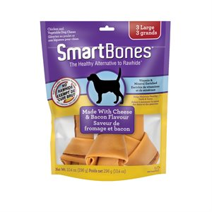 Spectrum SmartBones Bacon & Cheese Large 3 Pack