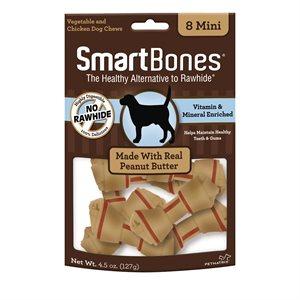 Spectrum Smart Bones Peanut Butter Mini 8 Pack