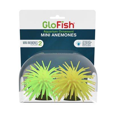Spectrum Brands GloFish Anemone Mini Yellow Green 2 Count