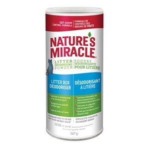 Spectrum Nature's Miracle Poudre Désodorisante pour Bacs à Litière 20oz