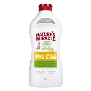 Spectrum Nature's Miracle Destructeur d'Urine pour Chats Bouteille Compressible 32oz