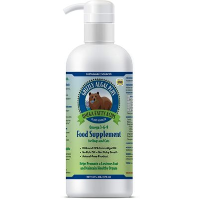 Grizzly Algal Plus Omega 3-6-9 Liquid Supplement 16oz