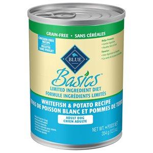 Blue Basics Limited Ingredient Adult Grain Free Whitefish & Potato Recipe 12 / 12.5 oz