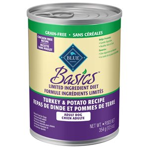 Blue Basics Limited Ingredient Adult Grain Free Turkey & Potato Recipe 12 / 12.5 oz