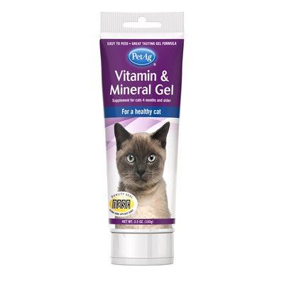 PetAg Supplément de Gel Vitamines & Mineraux pour Chats 3.5oz